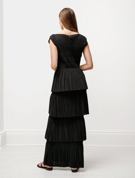 Totême Aramon Pleated Dress - Black