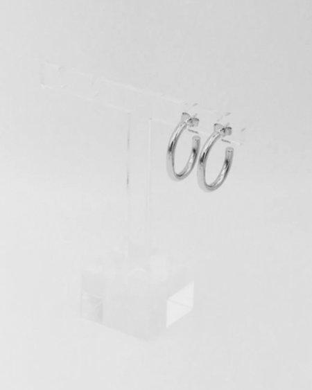 IDAMARI Lamé Hoop Earrings - Sterling Silver