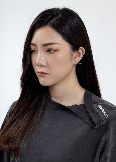 Y/project Mini Y Earrings - Silver