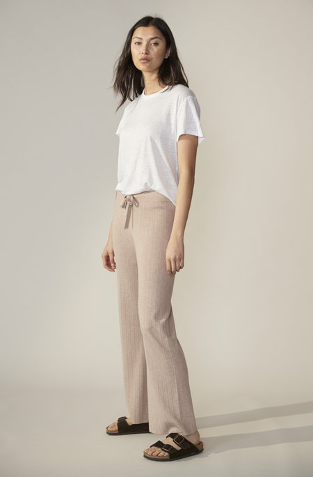Laing Home Ludo Ribbed Knit Pant - Wheat