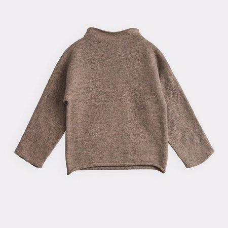 Kids Belle Enfant Funnel Sweater - Mid Brown Marl