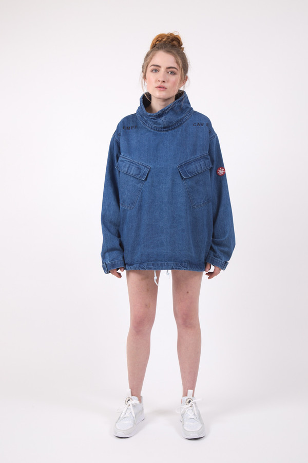 Cav Empt Wash Denim Pullover Jacket