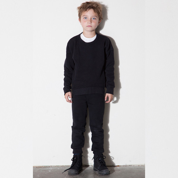 Kid's Mimobee Asym Hem Sweatshirt - Black