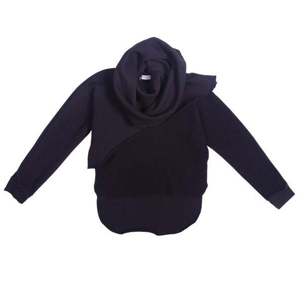 Kid's Mimobee Cutaway Layered Sweat - Black