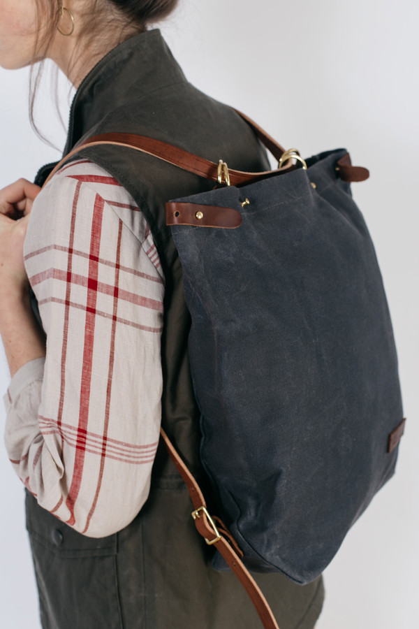Wood & Faulk Shuttle Pack North Coast Grey