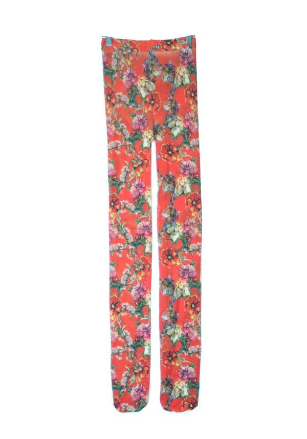 Strathcona Red Watercolour Bouquet Tights