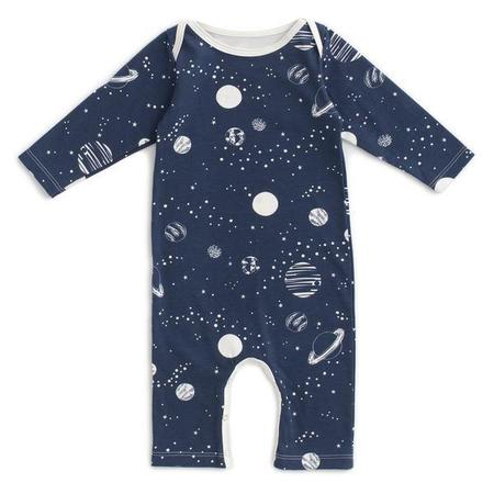Kids Winter Water Factory Long Sleeve Romper - Planets Night Sky