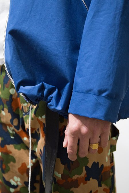 Camiel Fortgens Waxed Cotton Loose Track Jacket - Blue