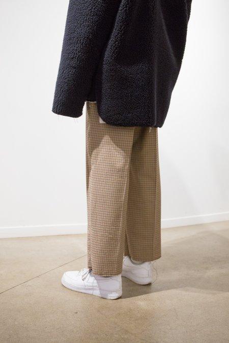 Camiel Fortgens Wool Cu Cu Pant - Brown Check