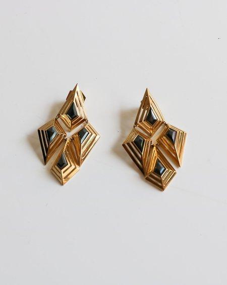 [Pre-loved] Sarah Magid Swarovski Chandelier Earrings - Gold