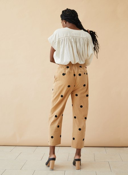 Seek Collective Embroidered Twill Haus Pants - Camel