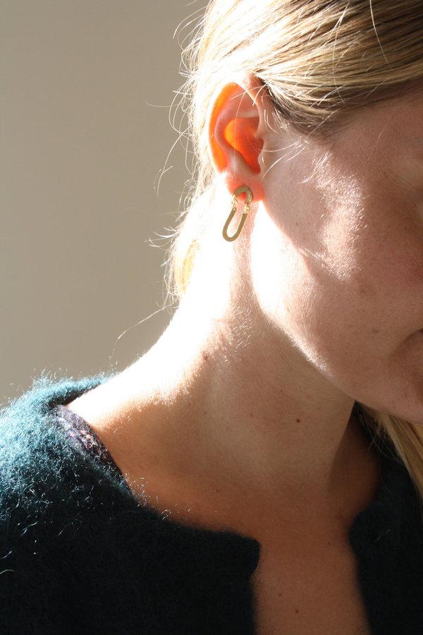 Blank Verse Brass Earrings