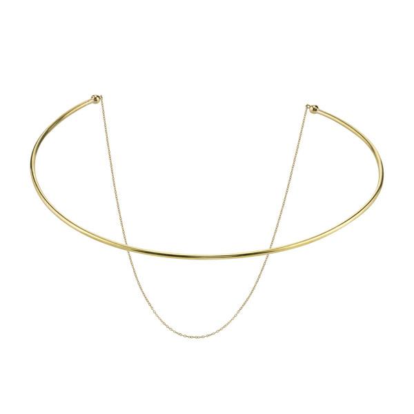 Gabriela Artigas Co-Orbit Choker with Draping Chain in Yellow Gold