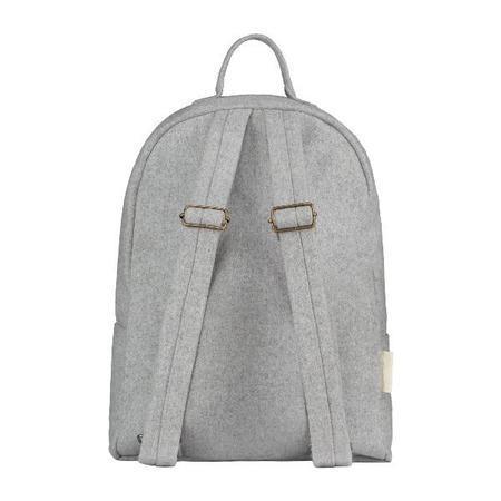 kids gray label felt backpack - grey melange