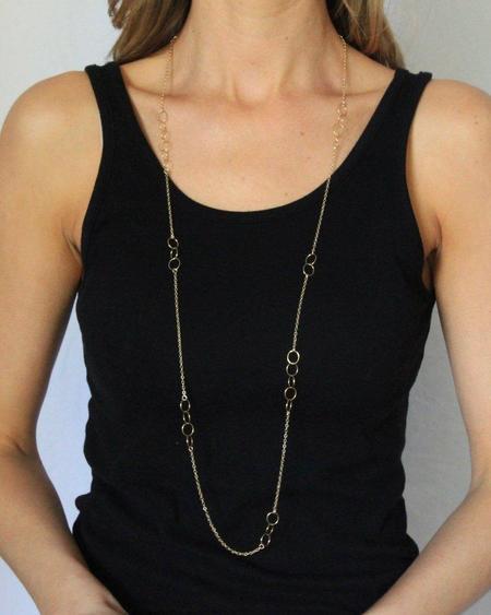 Jennifer Tuton Floating Loops Necklace - 14K Goldfill