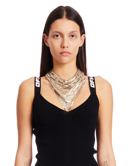 Paco Rabanne Metal Mesh Necklace - Gold