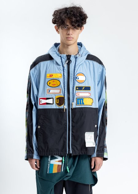 Mihara Yasuhiro Back Docking Denim Jacket - Blue