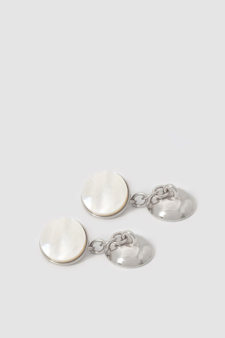 Codis Maya X FSC Cufflinks - White Rhodium/Mother of Pearl
