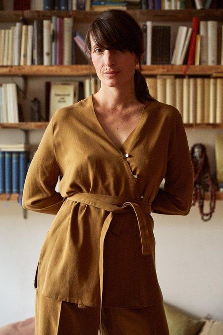 Frisur Zora Shirt - striped marron