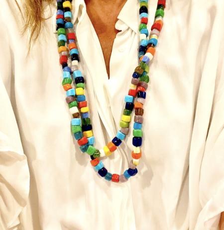 Wink Design Glass Bead Necklace - Multicolor