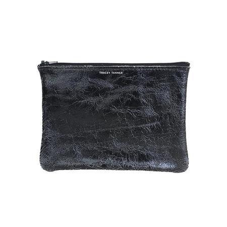Tracey Tanner Medium Zip Pouch - Black Foil