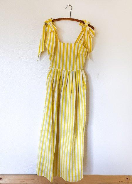 Whit Ribbon Dress - Yellow
