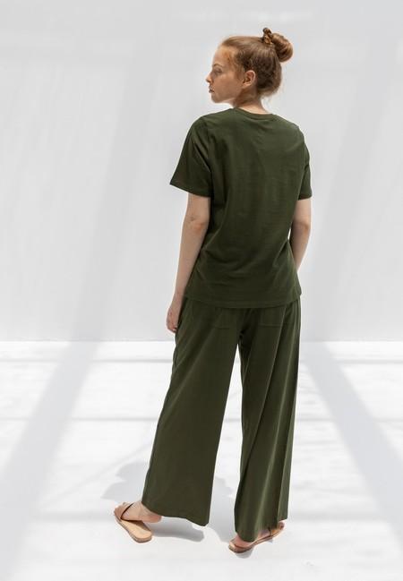 Kowtow Wide Leg Pants - Dark Green