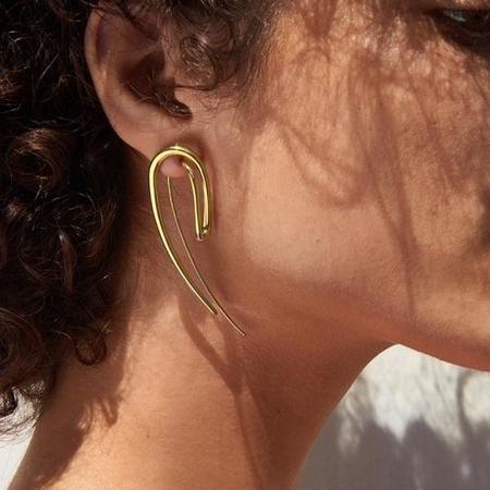 Charlotte Chesnais Initial Earring - gold