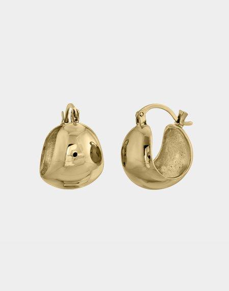 Modern Weaving Bubble Hoop Earrings - 14K Gold Vermeil