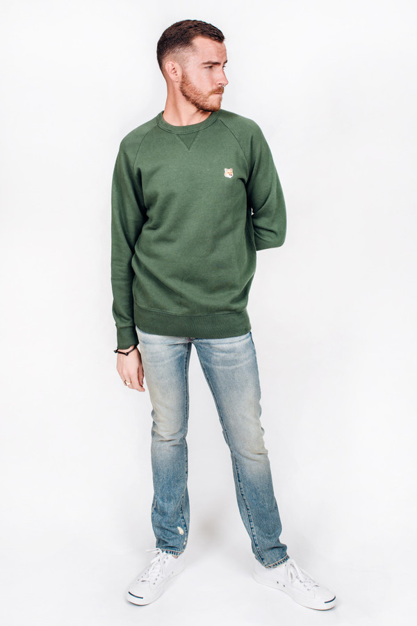 Men's Maison Kitsune Fox Head Patch Sweatshirt