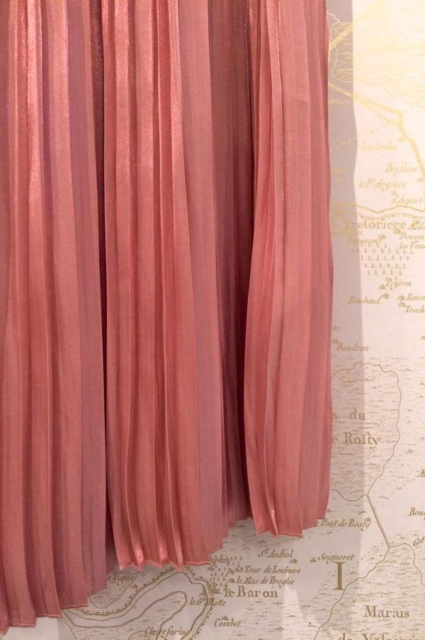 Tibi Long Pleated Flume Skirt