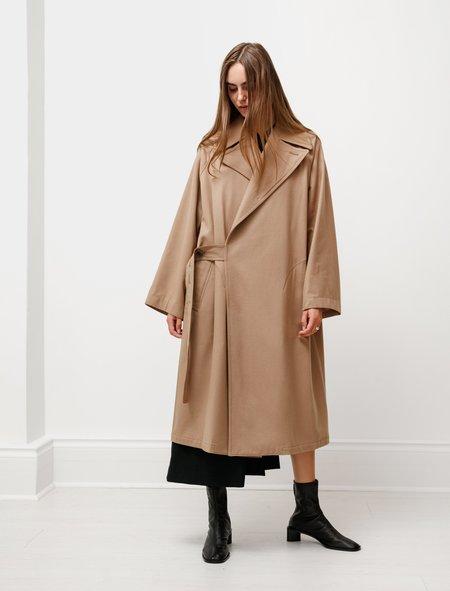 Y's by Yohji Yamamoto Belt Closure Coat - Camel