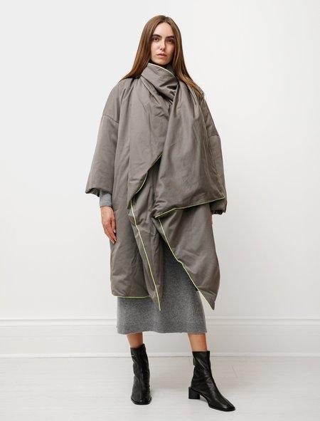 Dusan Duvet Mantle Coat - Incense Brown