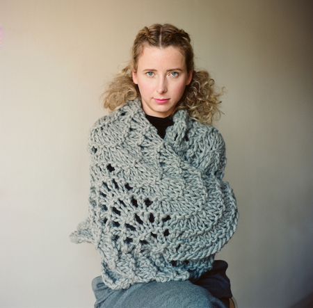 good night, day Bloomfield chunky lace Wrap (shown in pale gray Peruvian wool)