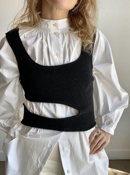signe Papillon Knit Tank Top - Black
