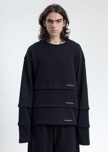 LUKEWARMPEOPLE Triple Layer Sweatshirt - Black