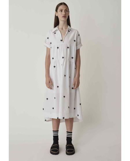 JUST FEMALE Freja Dress - Off White