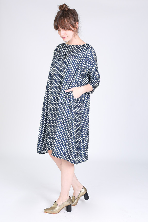 Creatures of Comfort Roman dress in midnight herend