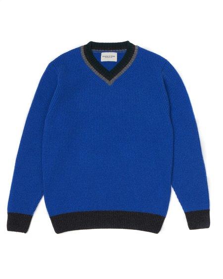 Country of Origin College VEE sweater - Blue
