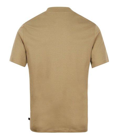 J LIndeberg Ace Mock Neck T Shirt - Beige