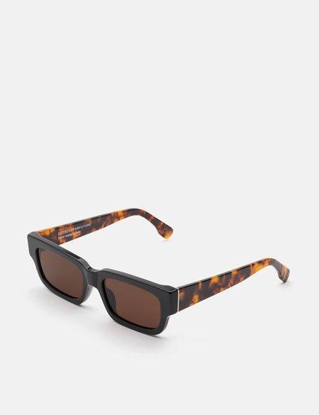 RetroSuperFuture Roma Mark Sunglasses - Black/Havana