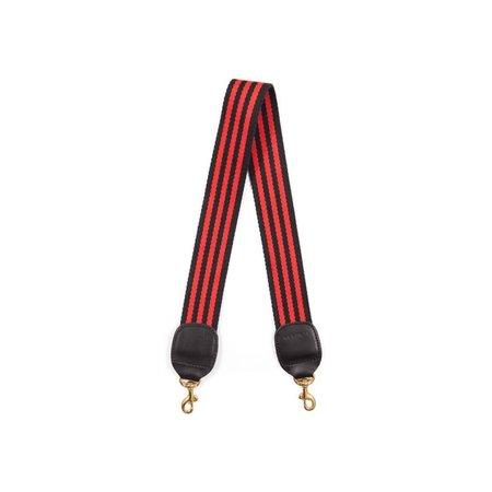 Clare V. Shoulder Strap - Black/Red