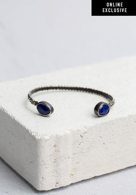 ISHI Lapis Lazuli and Sterling Silver Cuff