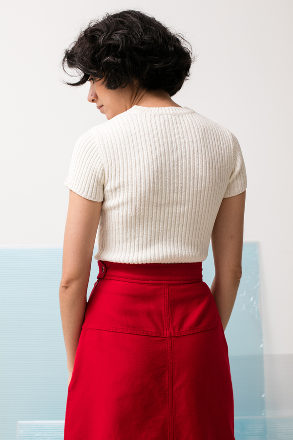 Caron Callahan Georgia Skirt - crimson twill