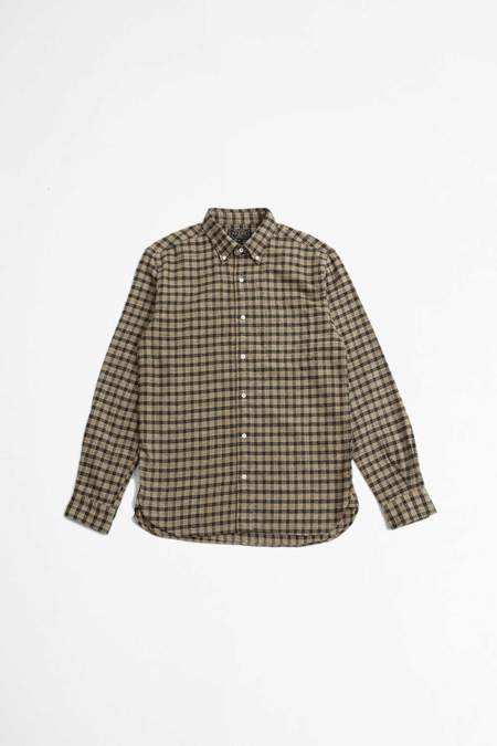 Beams Plus Flannel dyed shirt - check speckled