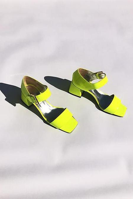 Suzanne Rae Maryjane Sandal - Neon Yellow