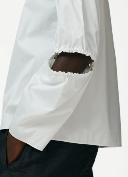 Tibi Poplin Split Sleeve Top - White