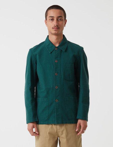 Vetra French Workwear Jacket Short in Twill Cotton - Bottle Green
