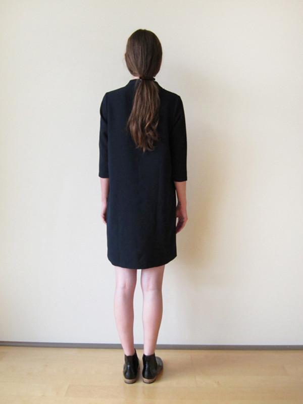 KAAREM Pure Mock Neck Dress, Blue/Black