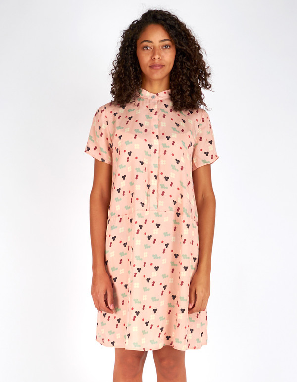 Dusen Dusen Oversize Tee Dress Pink Five Dot